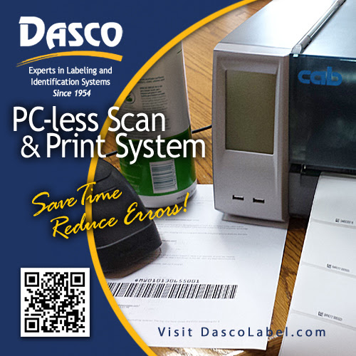 Cab PC-less barcode scan and print system