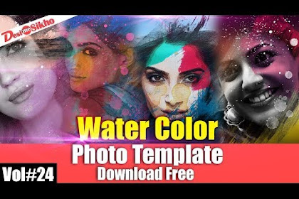 Water Color Photo Template For Photoshop Download Free