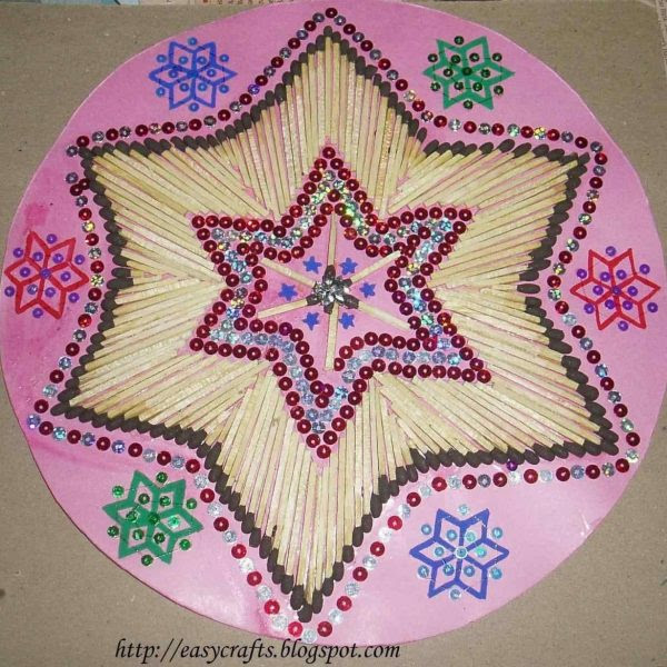 Art And Craft Ideas With Waste Material Simple Easy Wall Hanging