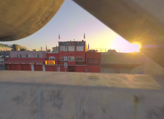 Video: insane drone footage shows Muscle Beach in the early a.m.