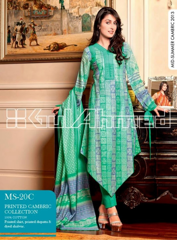 Mid-Summer-Cambric-Collection-2013-Gul-Ahmed-Printed-Embroidered-Fashionable-Dress-for-Girls-Women-3