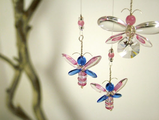 Fairy Mobile Kids Gift Ideas Pink Baby Room by MobileSuncatchers