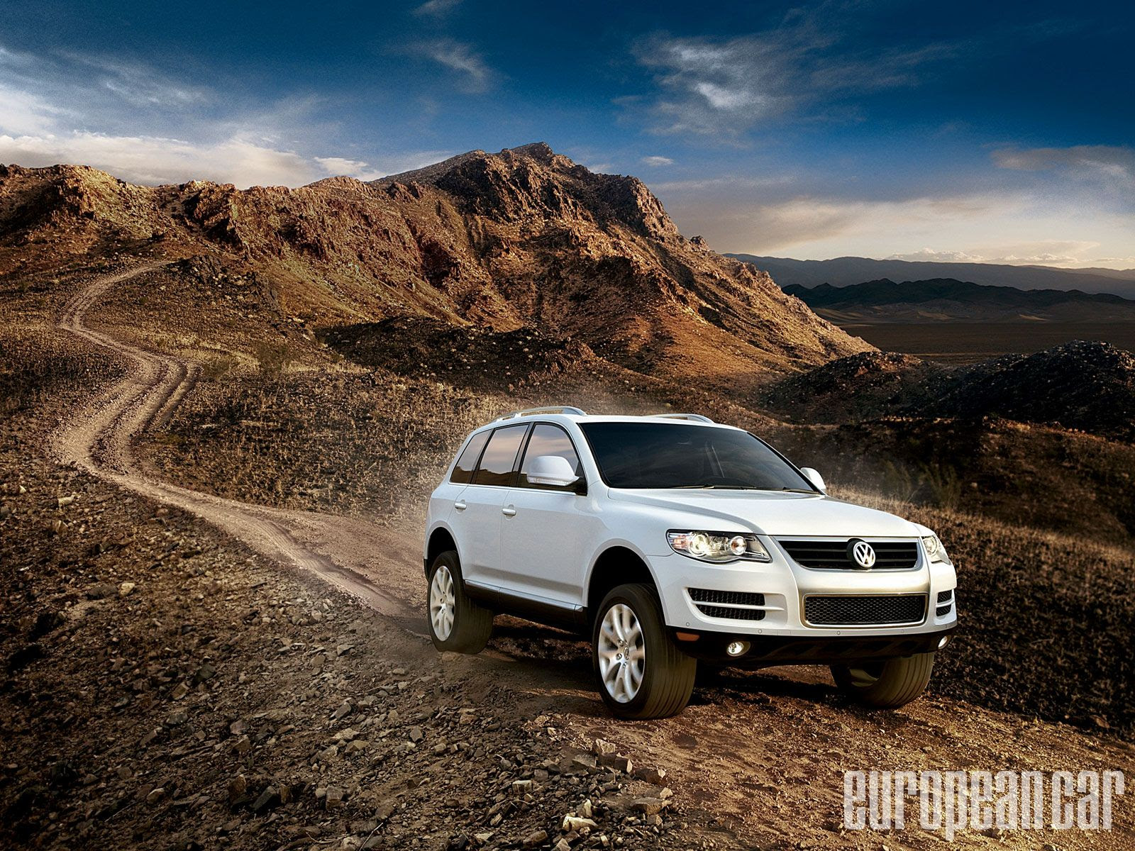 volkswagen touareg white nature  HD Desktop Wallpapers  4k HD