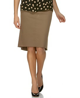 BCBG Stretch-Cotton Pencil Skirt