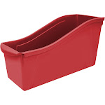 Storex Industries STX71102U06C-6 Large Book Bin Red - 6 Each