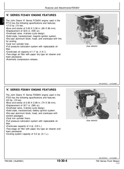 JOHN DEERE F725 FRONT MOWER Service Repair Manual