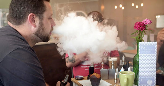 See inside vape café where diners smoke e-cigarettes while they eat and drink