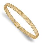 14k Yellow Gold Stretch Mesh Bangle Bracelet