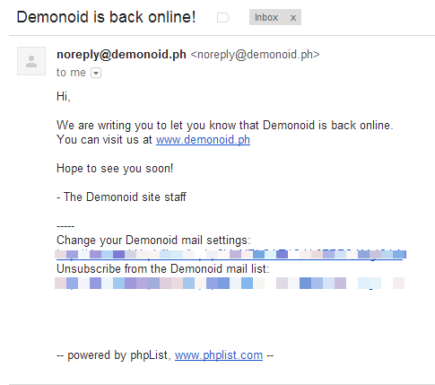 Demonoid is Back Online