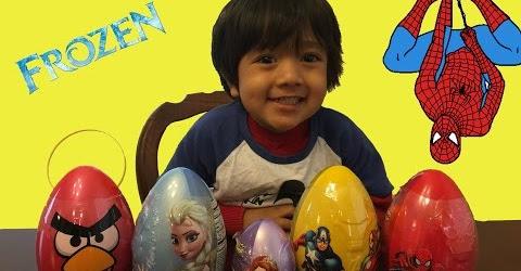Ryan Opens Easter eggs Surprise 2015