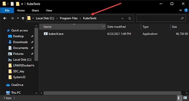 Install kubectl on Windows and Create Kubeconfig File