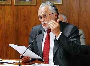 O ex-presidente do PT José Genoino, condenado pela maioria do STF por corrupção ativa