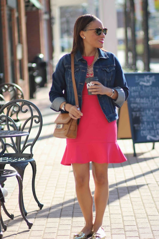 Wardrobe Remix: Pink Fit and Flare Dress - Nicole to the Nines