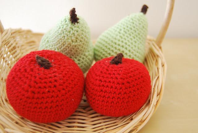 pera manzana crochet
