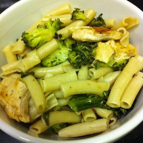 Lemon Chicken Pasta w/ Roasted Broccoli