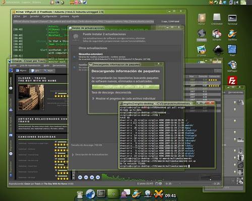 Ubuntu Gutsy desktop