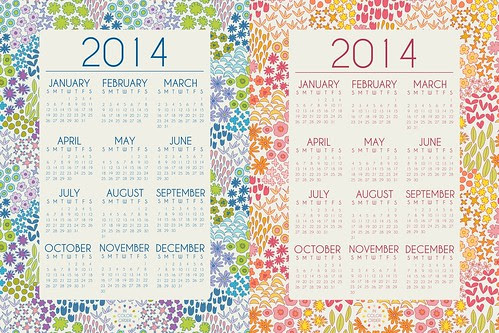 Dreamin Vintage 2014 Printable Calenders by Jeni Baker