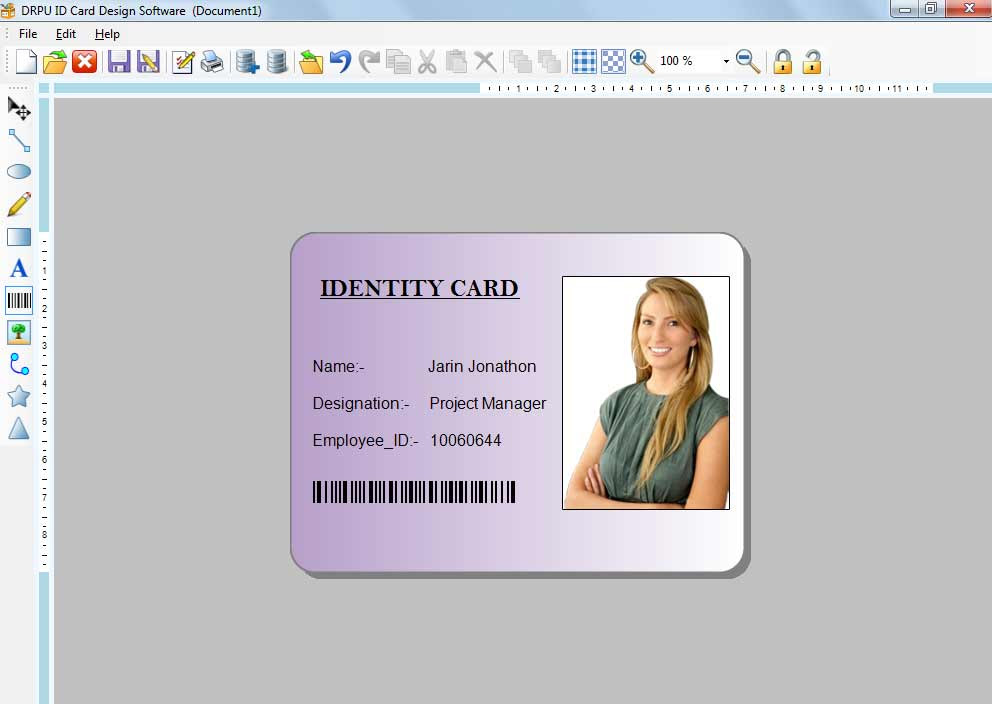 Id Card Software With Barcode Free Download Most Freeware