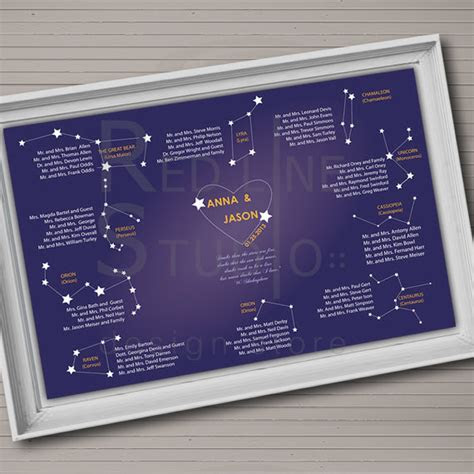 A Wedding Table Plan That?s Out Of This World