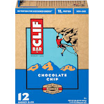 Clif Energy Bars, Chocolate Chip - 12 pack, 2.40 oz bar