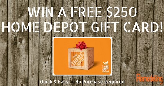 Want a FREE $250 Home Depot Giftcard?