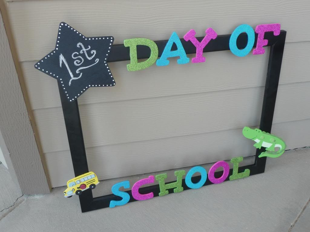 Mrs Pattons Patch Back To School Frame Diy