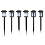 Pure Garden 50-12 15.5 x 2.75 x 2.75 in. Solar Powered LED Lights Outdoor Stake Spotlight Fixture Set of 6