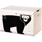 3 Sprouts UTCBEA Collapsible Toy Chest Storage Bin for Kids Playroom, Bear by VM Express