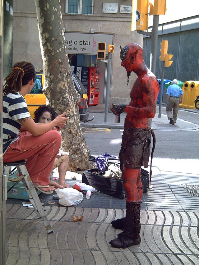 Living Statues at Las Ramblas, Barcelona: Devil's  Work