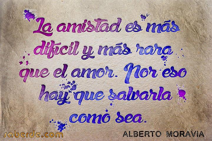 Frases Sobre La Amistad Alberto Moravia Saber De