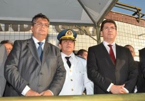 Flávio Dino, Cel. Célio Roberto e o secretário Jefferson Portela