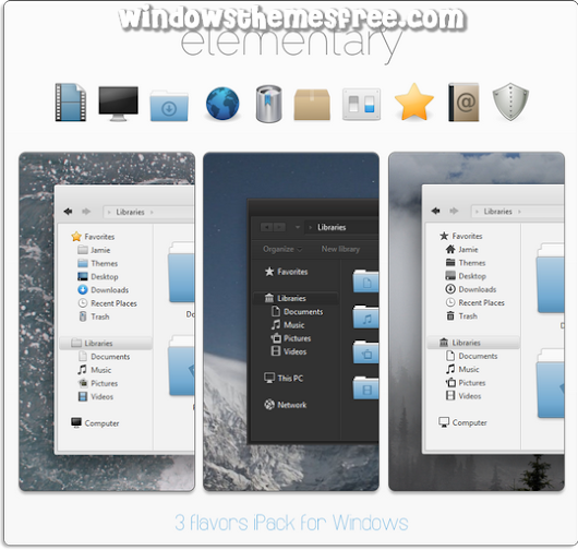 Elementary ipack Windows Icons PackWindows Themes Free | Windows Themes Free