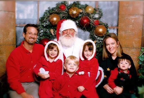Family with Santa 2008