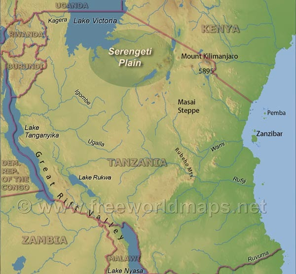 Serengeti Plains Africa Map.Where Is The Serengeti Plain On A Map Of Africa Map Of Africa