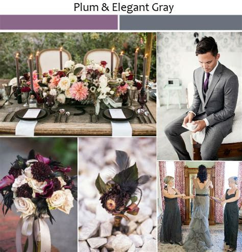 Wedding Ideas with Rustic Shades of Plum   Tulle