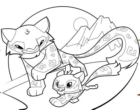 animal jam peck coloring page coloring pages