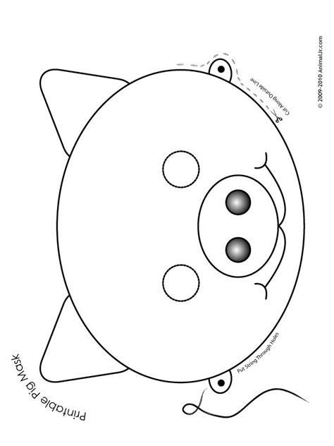 printable animal masks pig mask printable pig mask
