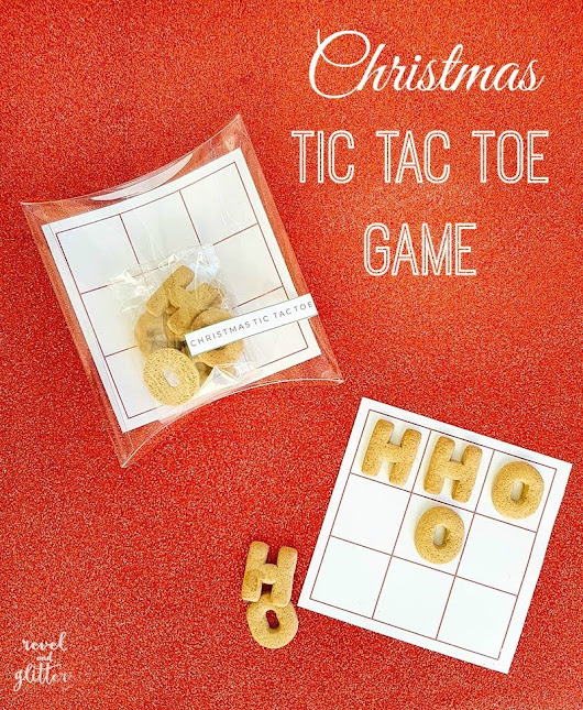 Christmas Tic Tac Toe Game - Revel and Glitter