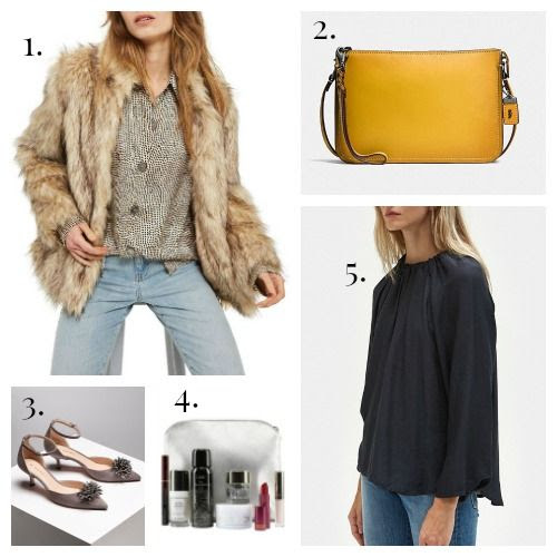 Topshop Jacket - Coach Crossbody - M.Gemi Pumps - SpaceNK Kit - Need Blouse