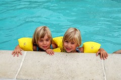Girls in the pool!