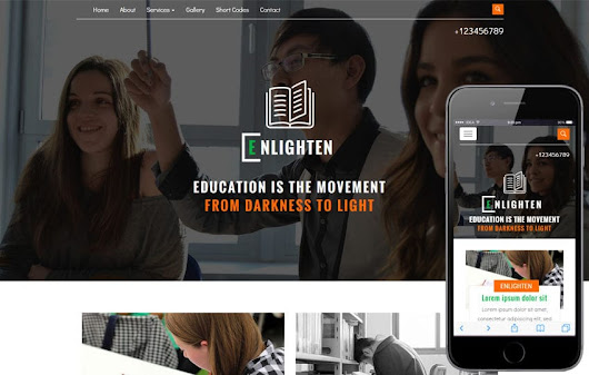 Enlighten an Education Category Flat Bootstrap Responsive Web Template