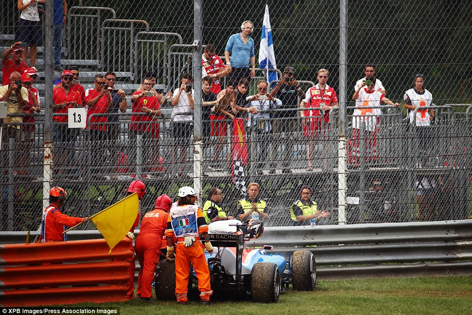 Pascal Wehrlein of Manor was also forced to retire from the race in Monza after following orders from his team via the radio
