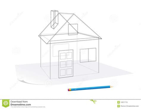 simple house sketch stock vector illustration  build