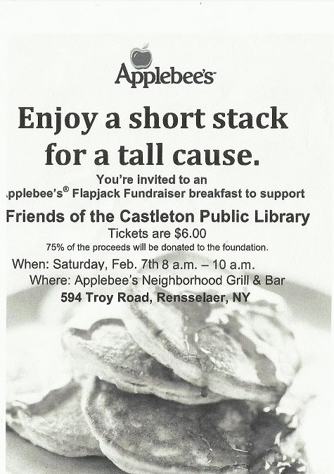 Applebees Flapjack Fundraiser to Benefit Library