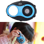 5MP 1.5 inch Color Screen Mini Keychain Type Gift Digital Camera for Children Blue