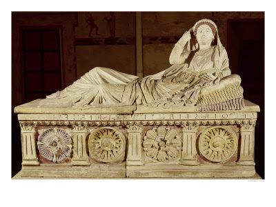 The Sarcophagus of Larthia Seianti Lámina giclée