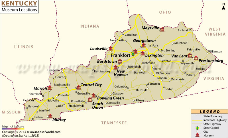 time zone map for kentucky Lexington Kentucky Timezone