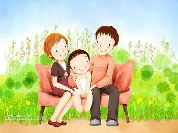 Lovely_illustration_of_Happy_family_on_sofa_wallcoo.com