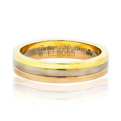 Cartier Tri Color Mens Wedding Band Ring   Boca Raton
