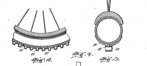 Snow Bike Tire Design Detail 1900